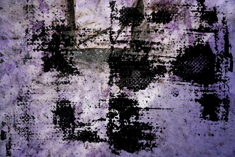 Muro de cimento vívido ultravioleta da cor, superfície de pedra imagem de stock