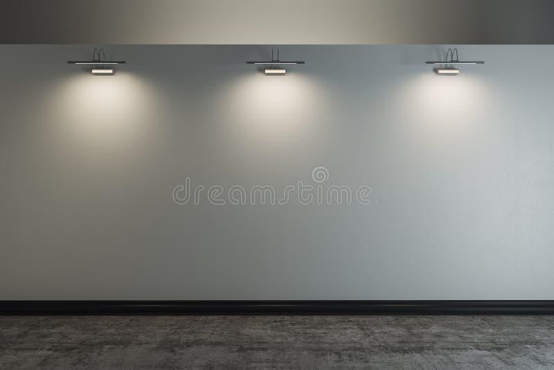 Muro de cimento vazio ilustração stock