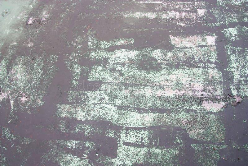 Muro de cimento velho com backgr gasto verde da textura da superfície da pintura imagem de stock royalty free