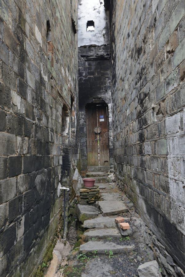 Muro de tijolos Antigo Artesanato China Quaint Hallway foto de stock royalty free