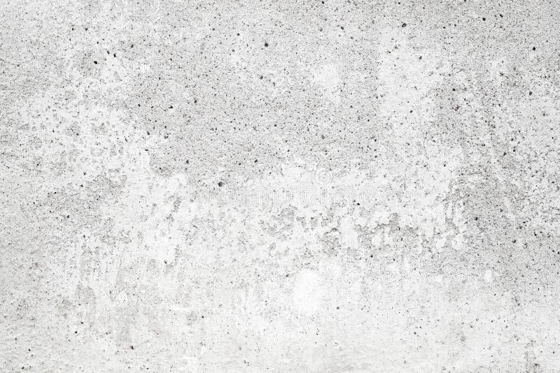 Muro di cemento bianco con lo stucco, struttura del fondo immagine stock libera da diritti