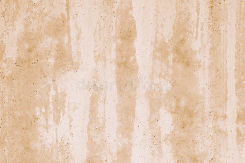 Muro di cemento marrone chiaro in stucco bianco Modello astratto dell'acquerello Fondo di lerciume nello stile dell'acquerello St immagini stock libere da diritti