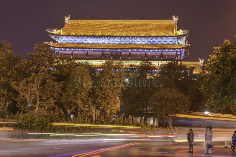 Muro di cinta della torre, Xian immagini stock libere da diritti