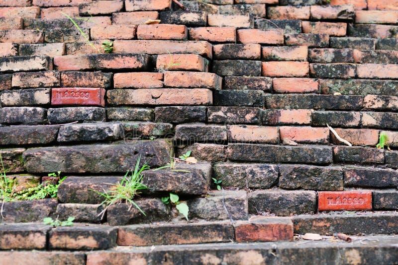 Muro di mattoni antico fotografia stock
