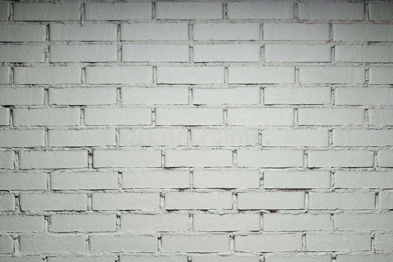 muro di mattoni bianco con lo spazio della copia immagine stock