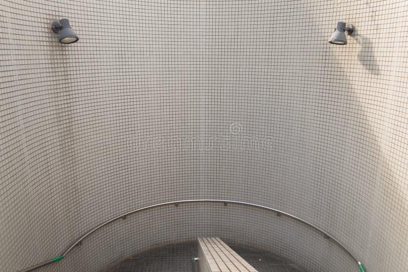 Muro di mattoni bianco - fondo fotografie stock libere da diritti