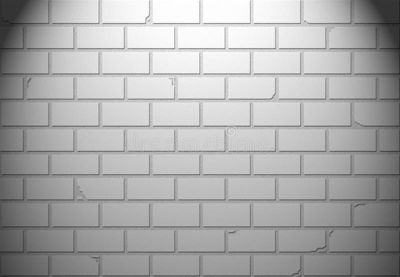 Muro di mattoni bianco per fondo o struttura illustrazione di stock