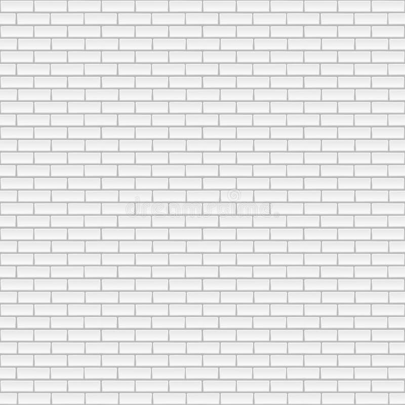 Muro di mattoni bianco quadrato illustrazione di stock
