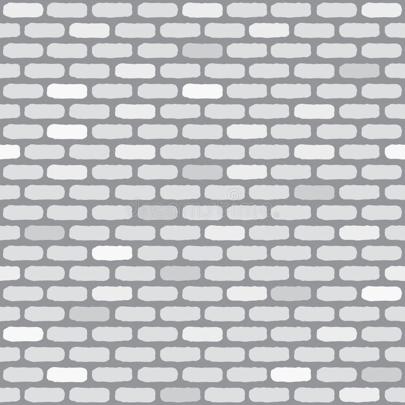 Muro di mattoni bianco Reticolo senza giunte illustrazione di stock