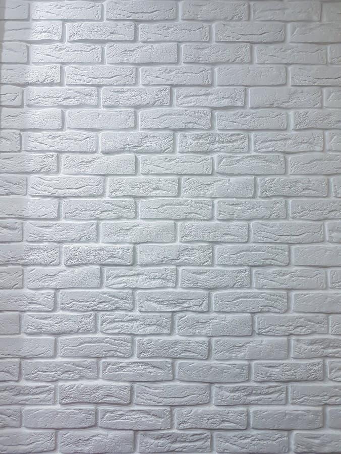 Muro di mattoni bianco vuoto immagini stock