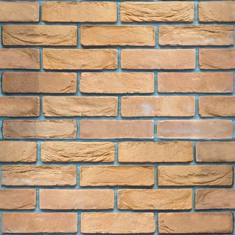 Muro di mattoni decorativo - fondo senza cuciture - modello dell'arenaria fotografie stock libere da diritti