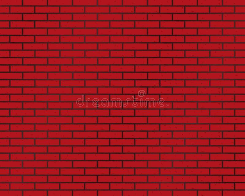 muro di mattoni del fondo del mattone o di colore rosso royalty illustrazione gratis