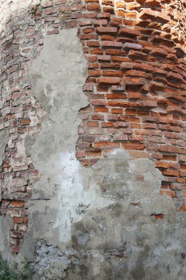 Muro di mattoni della chiesa antica fotografie stock libere da diritti