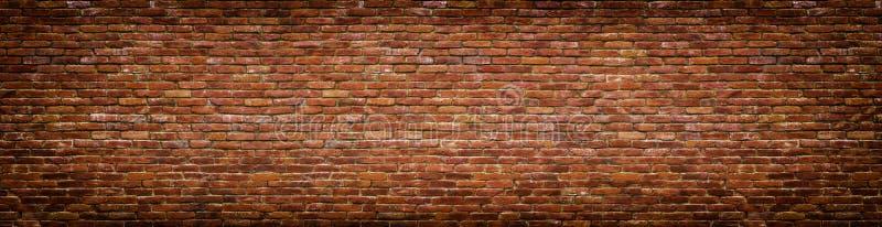 Muro di mattoni di lerciume, vista panoramica della vecchia muratura fotografie stock libere da diritti