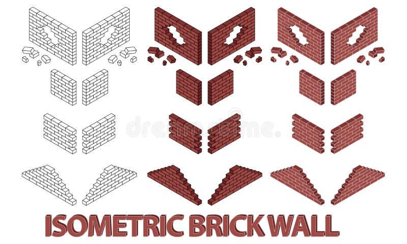 Muro di mattoni differente illustrazione di stock