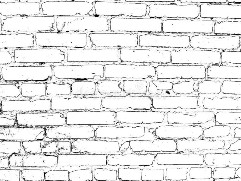 Download Muro Di Mattoni Dipinto Nel Nero Illustrazione di Stock - Illustrazione di mattone, background: 56885138