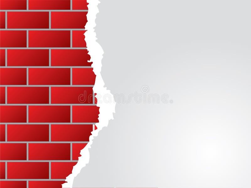 Muro di mattoni e documento violento illustrazione vettoriale