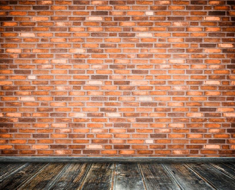 Muro di mattoni e pavimento di legno royalty illustrazione gratis