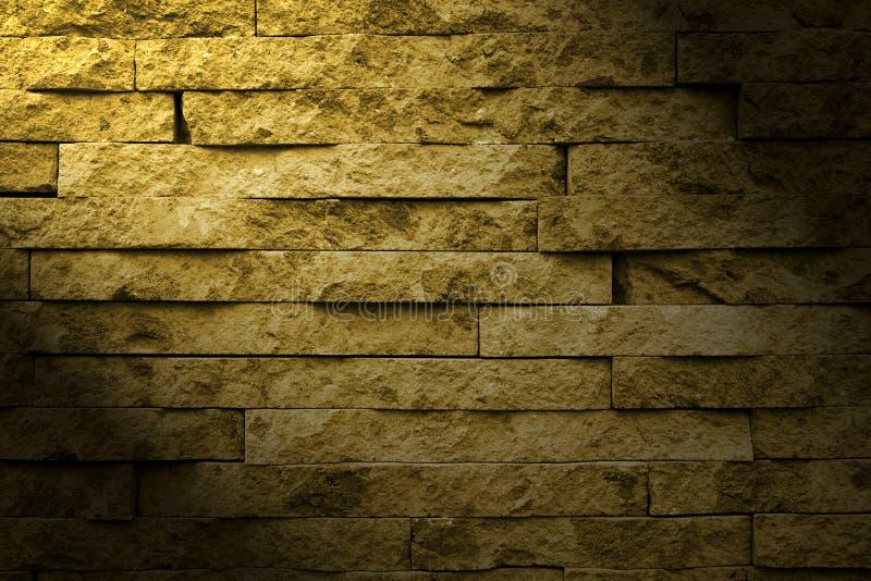 Muro di mattoni ed indicatore luminoso fotografia stock libera da diritti