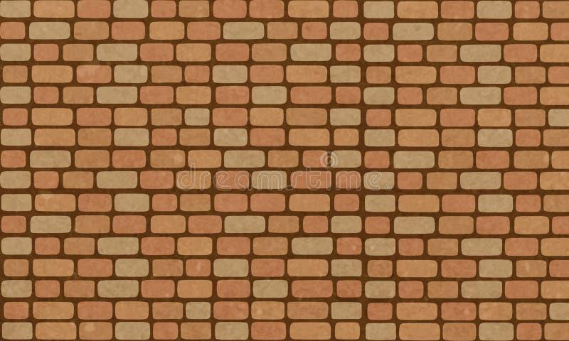 Muro di mattoni, fondo arancio d'annata di struttura della parete di mattoni per progettazione grafica, vettore illustrazione di stock