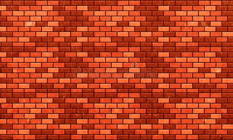 Muro di mattoni, fondo arancio rosso di struttura della parete di mattoni per progettazione grafica, vettore royalty illustrazione gratis