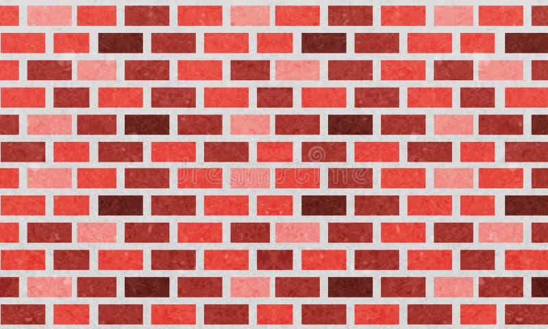 Muro di mattoni, fondo arancio di struttura della parete di mattoni rossi per progettazione grafica, vettore royalty illustrazione gratis