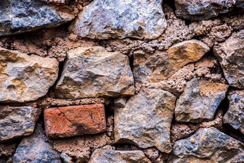 Muro di mattoni Fondo astratto con i mattoni fotografia stock