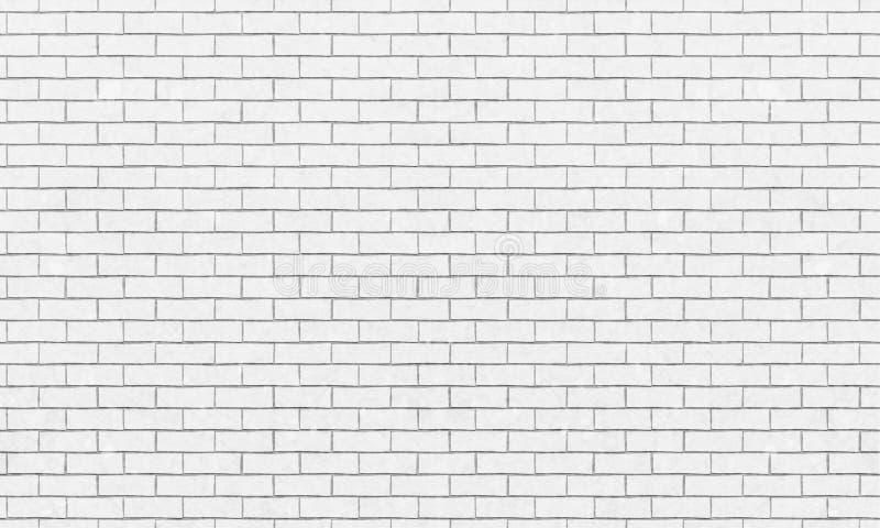Muro di mattoni, fondo bianco di struttura della parete di mattoni per progettazione grafica, vettore illustrazione di stock