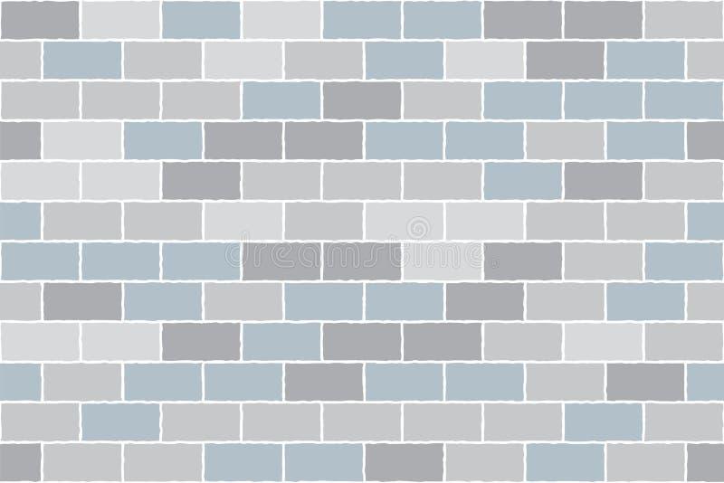 Muro di mattoni grigio Fondo di vettore Reticolo senza giunte illustrazione vettoriale