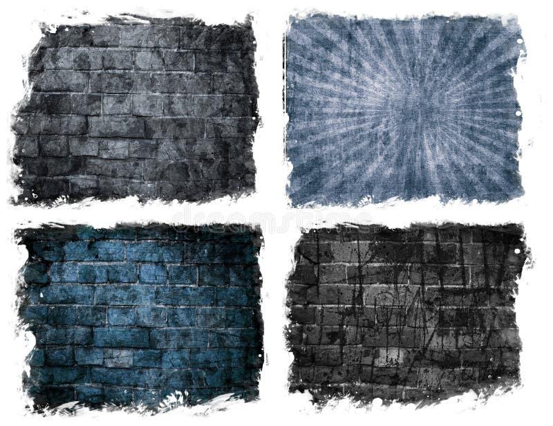 Muro di mattoni invecchiato illustrazione di stock