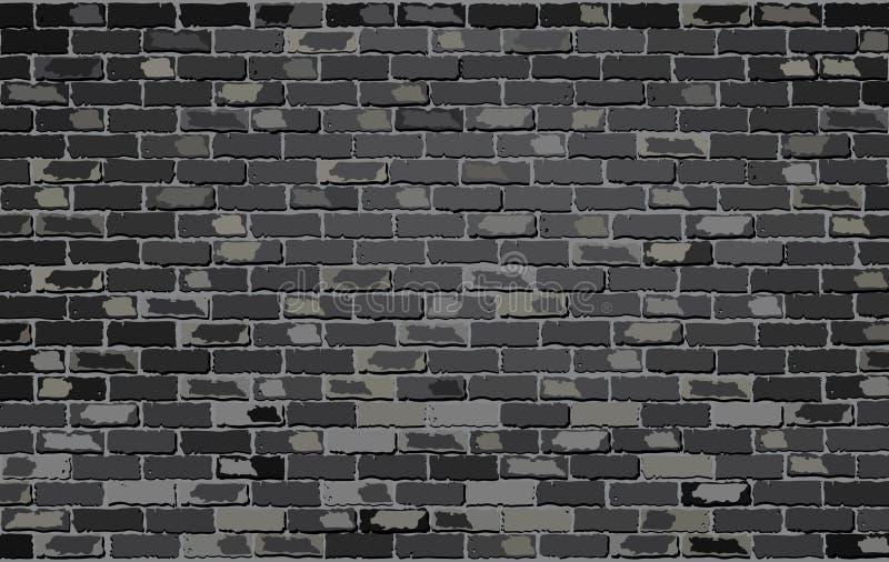 Muro di mattoni nero illustrazione di stock