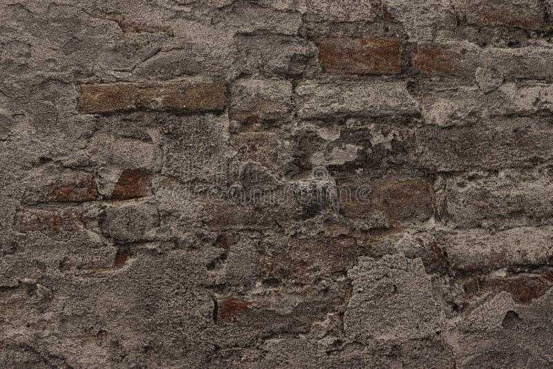 Muro di mattoni nero, fondo della muratura per progettazione fotografia stock