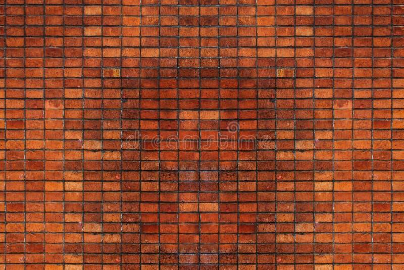 Muro di mattoni rosso d'annata, spazio vuoto, spazio della copia fotografia stock