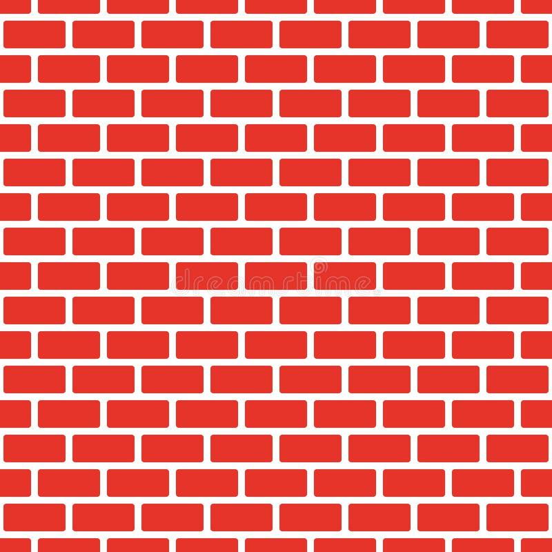 Muro di mattoni rosso senza cuciture, perla bianca Replica continua del modello di struttura Illustrazione di vettore fotografia stock libera da diritti