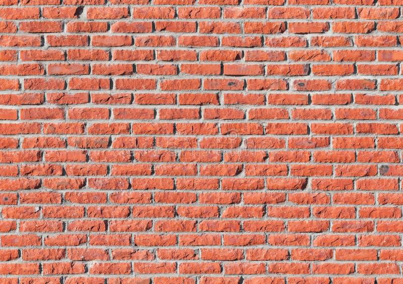 Muro di mattoni rosso, struttura senza cuciture immagini stock