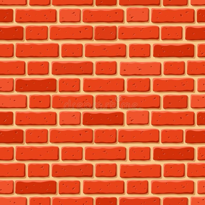 Muro di mattoni rosso Struttura senza giunte di vettore royalty illustrazione gratis