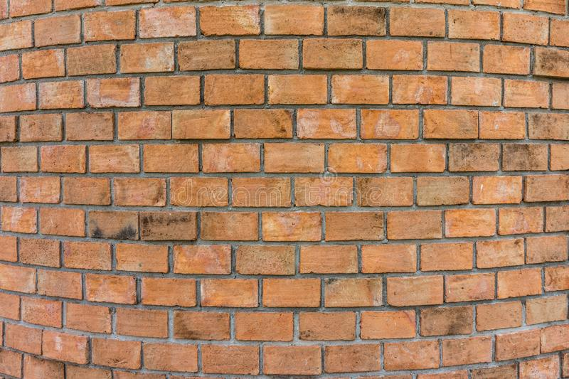 Muro di mattoni rotondo fotografia stock