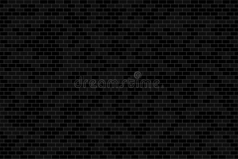 Muro di mattoni in scuro o in nero con il bw o il tono in bianco e nero royalty illustrazione gratis