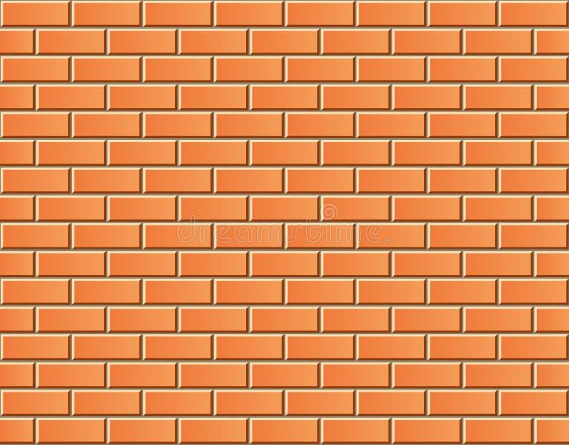 Muro di mattoni senza cuciture di vettore - modello del fondo royalty illustrazione gratis