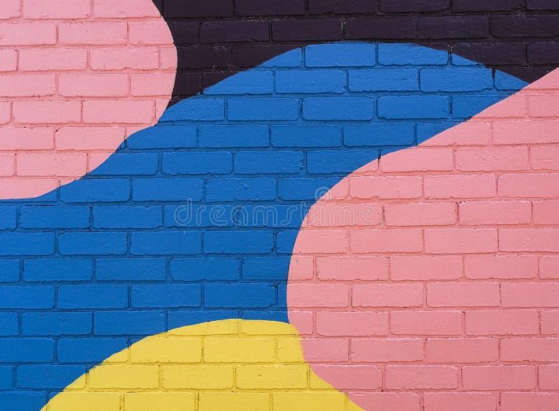Muro di mattoni variopinto royalty illustrazione gratis
