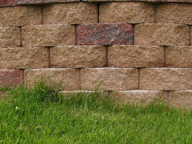 Muro di sostegno del blocco fotografia stock