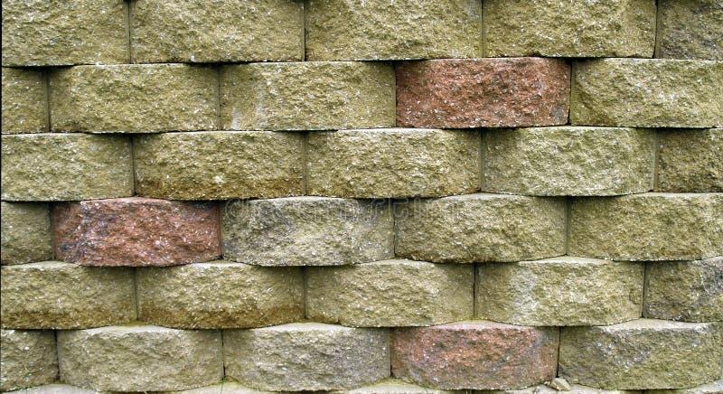 Muro di sostegno del blocco fotografie stock