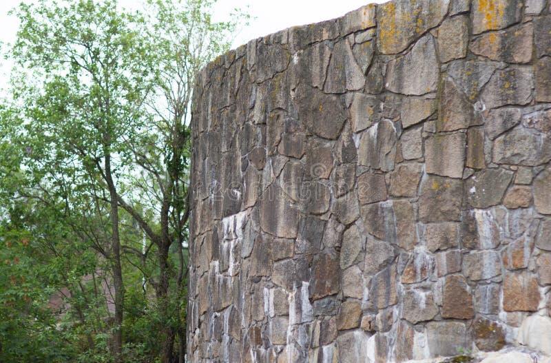 Muro do velho e antigo forte de Isergan em Fredrikstad Noruega fotografia de stock