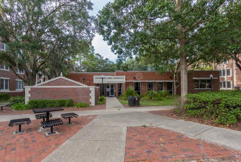Murphree Hall Area Commons en la universidad de la Florida foto de archivo