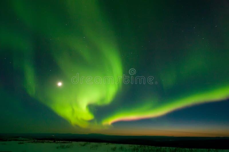 Murphy Dome Twilight Aurora royalty free stock photos