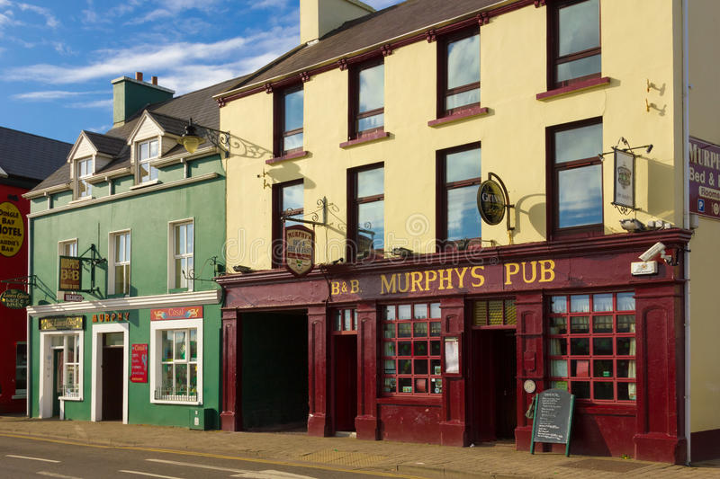 Murphys Pub. Strand street. Dingle. Ireland. Picturesque and colourful Strand street. Dingle. county Kerry. Ireland stock photo