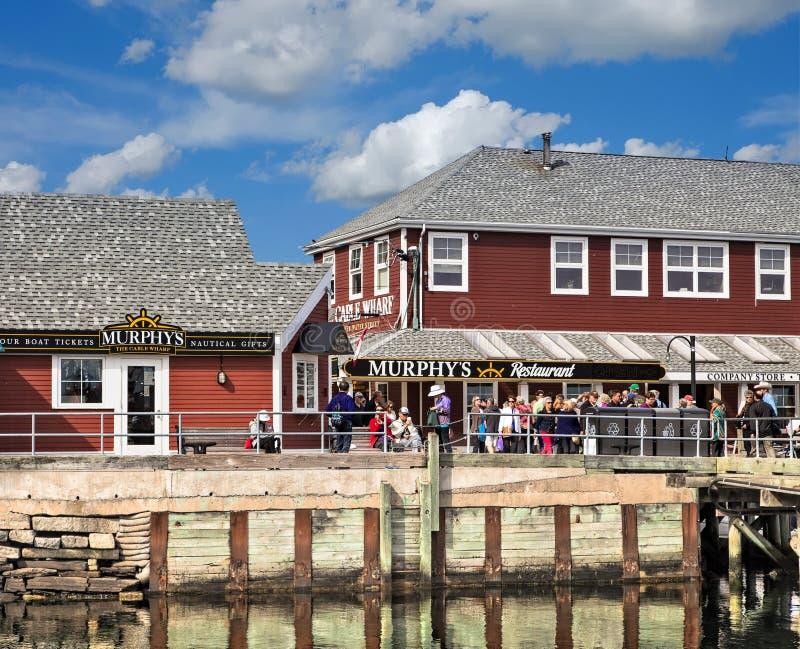 Murphys-Restaurant auf dem Pier lizenzfreie stockbilder