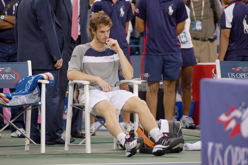 Murray Andy # 4 in the World (136). Andy Murray - a British star is upset royalty free stock image