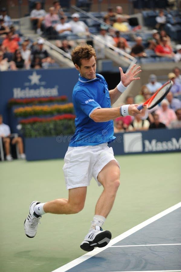 Murray Andy bij de V.S. opent 2009 (12) stock fotografie