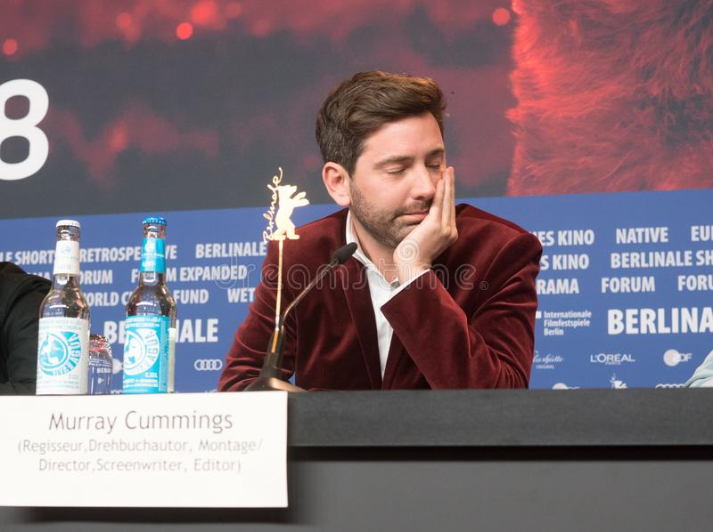 Murray Cummings assiste à conferência da imprensa de Berlinale fotos de stock